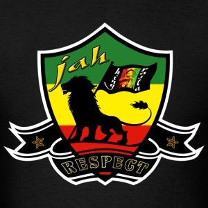 jah king rasta respect T-Shirts - Men's T-Shirt