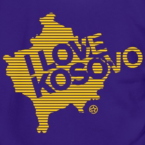 I LOVE KOSOVO Zip Hoodies/Jackets - Unisex Fleece Zip Hoodie by American Apparel