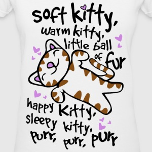 soft kitty, warm kitty Women's T-Shirts - Women's V-Neck T-Shirt