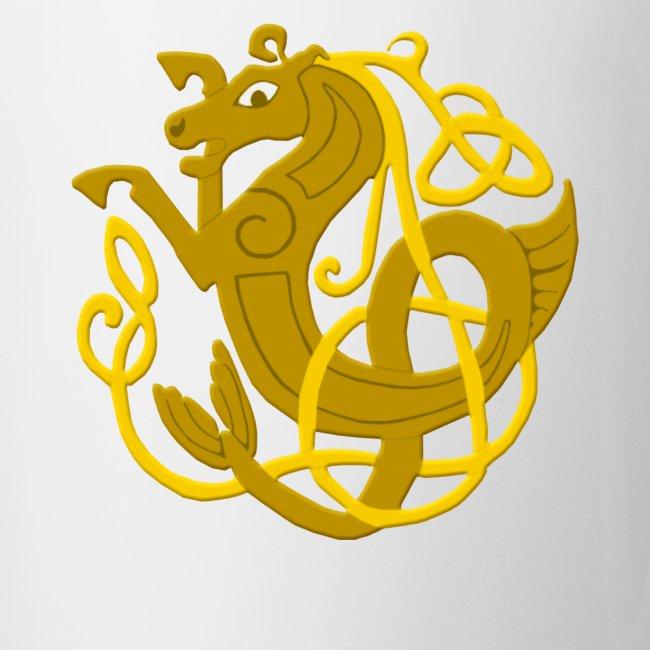 Atteestude Gifts Gold Celtic Knots Seahorse Mug Coffeetea Mug