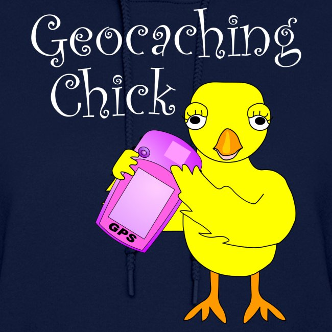 Geocaching Chick White Text