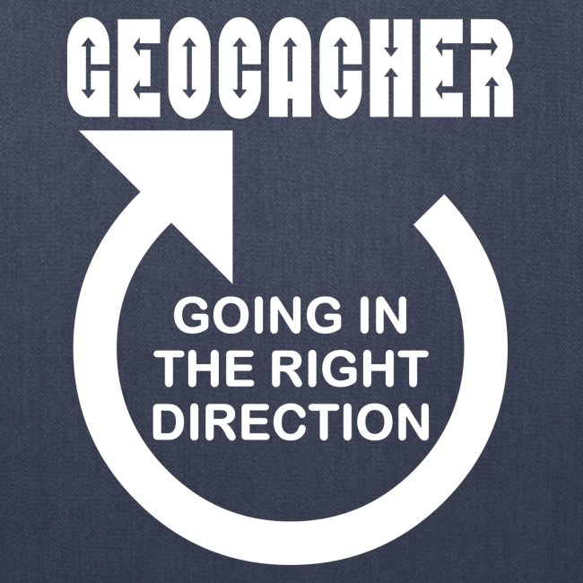 Geocacher Right Direction White Text