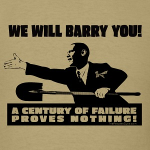We will Barry You! Obama with shovel
