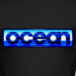 Ocean Logo - Men's Long Sleeve T-Shirt by Next Level