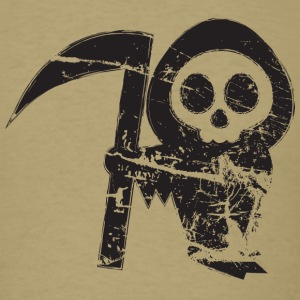 Grim Reaper - Grungy Distressed Look T-Shirts - Men's T-Shirt