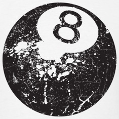 8Ball - Grungy Distressed Look T-Shirts