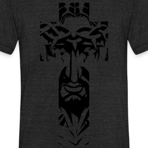 JESUSINTHECROSS.png T-Shirts - Unisex Tri-Blend T-Shirt by American Apparel