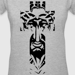 JESUSINTHECROSS.png Women's T-Shirts - Women's V-Neck T-Shirt