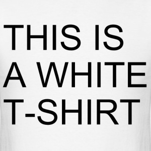 This is a White T-Shirt - Men's T-Shirt