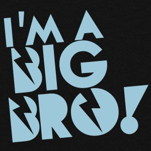 I'm a BIG BRO! brother in funky cool solid Hoodies - Women's Hoodie