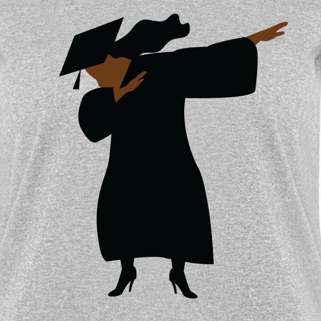 Shirts For Laughs | Woman Graduate Dabbing Cap & Gown - Womens T-Shirt