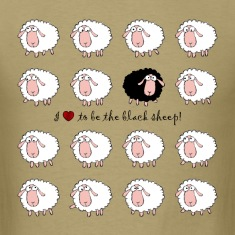 i love to be the black sheep ★ Spiritspread T-Shirts