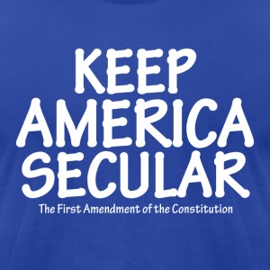 Keep America Secular  - Men's T-Shirt by American Apparel