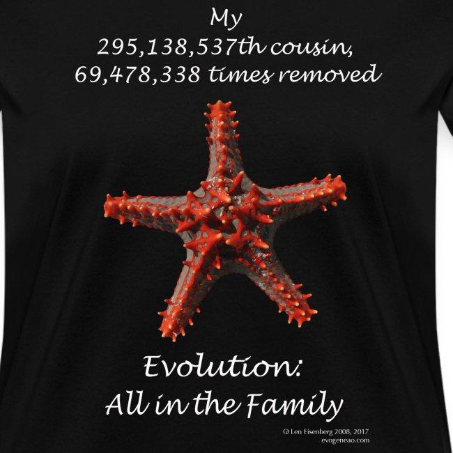 Women's starfish black tee