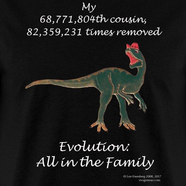 Dinosaur black tee shirt