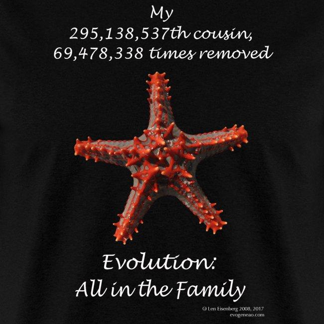 Starfish black tee shirt