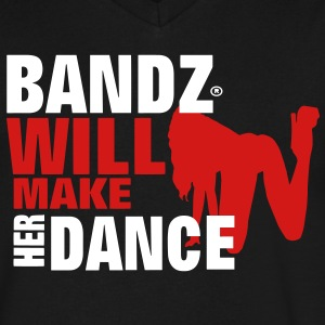 BANDZ WILL MAKE HER DANCE T-Shirts - Men's V-Neck T-Shirt by Canvas