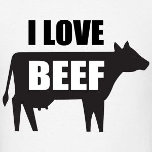 I Love Beef T-Shirts - Men's T-Shirt
