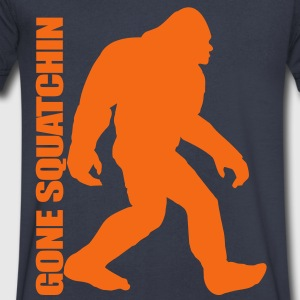 Gone Squatchin 3 T-Shirts - Men's V-Neck T-Shirt by Canvas