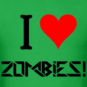 I Love Zombies.png T-Shirts - Men's T-Shirt