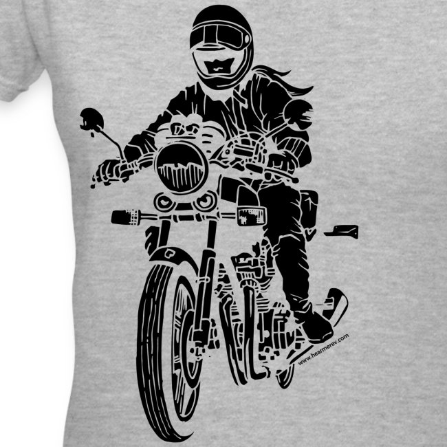 Motorcycle Rider on Grey