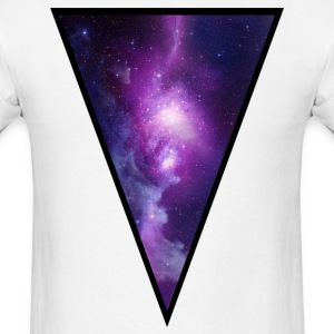 Pink Galaxy Triangle - Men's T-Shirt