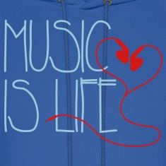 Music is Life Hoodies
