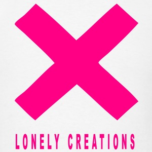 PINK LONELY CREATIONS X - Men's T-Shirt