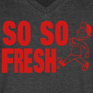 SO SO FRESH T-Shirts - Men's V-Neck T-Shirt by Canvas