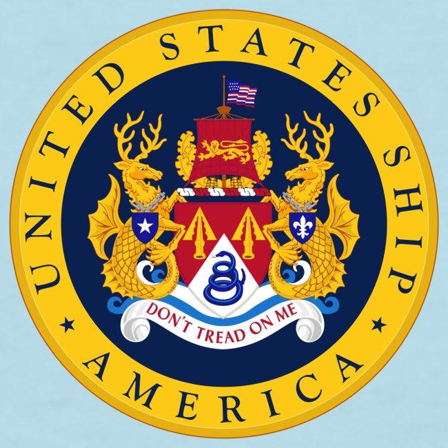 USS AMERICA CVA-66 1967 WOMENS CRUISE SHIRT - FAMILY