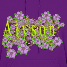 Alyson Floral Lavender Flowers yellow Gold Hoodies