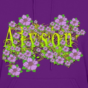 Alyson Floral Lavender Flowers yellow Gold Hoodies - Women's Hoodie