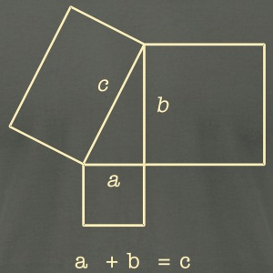 Pythagorean Theorem Men's T-shirt - Men's T-Shirt by American Apparel