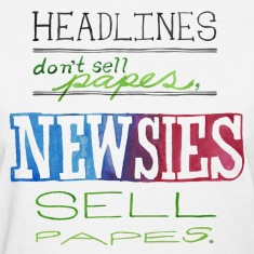 Newsies Sell Papes Women's T-Shirts