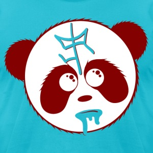SIR Panda Drool - Aqua - Men's T-Shirt by American Apparel