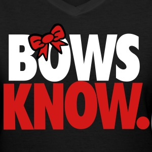 bows know  - Women's V-Neck T-Shirt