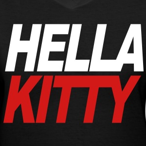 hella kitty - Women's V-Neck T-Shirt