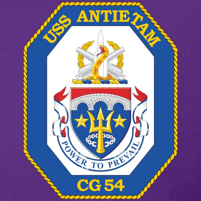 USS ANTIETAM CG-54 CREST SWEATSHIRT