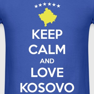 KEEP CALM AND LOVE KOSOVO T-Shirts - Men's T-Shirt