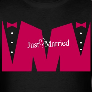 JUST MARRIED T-Shirts - Men's T-Shirt