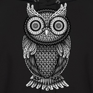 ornamental Owl Design black and white Hoodies - Men's Hoodie