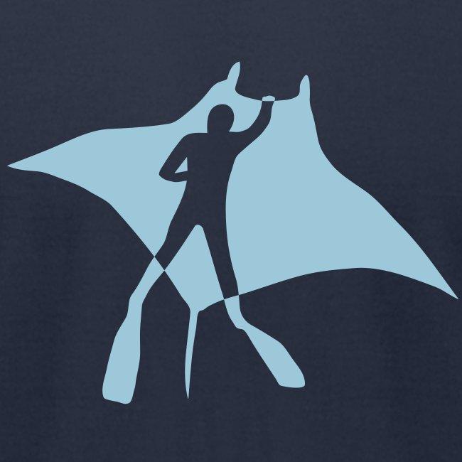 animal t-shirt manta ray scuba diver diving dive fish sting ray
