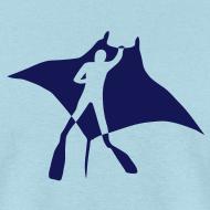 Design ~ animal t-shirt manta ray scuba diver diving dive fish sting ray