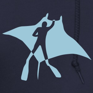 manta ray sting scuba diving diver dive fish ocean Zip Hoodies/Jackets - Men's Zip Hoodie