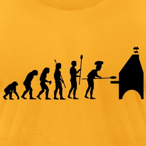evolution_pizza T-Shirts - Men's T-Shirt by American Apparel