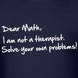 Dear Math, handwritten - Men's T-Shirt