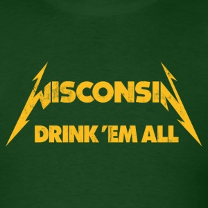 WISCONSIN DRINK EM ALL T-Shirts - Men's T-Shirt