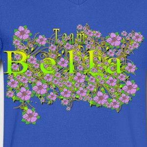 Team Bella Floral Lavender Flowers yellow Gold 3 T-Shirts - Men's V-Neck T-Shirt by Canvas