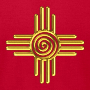 Zia Sun Spiral, Zia Pueblo, New  Mexico I T-Shirts - Men's T-Shirt by American Apparel
