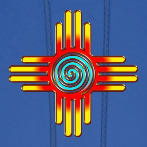 Zia Sun Spiral, Zia Pueblo, New  Mexico I Hoodies - Men's Hoodie